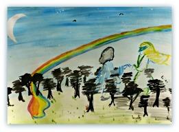 Hugh Miles Acrylic on Paper