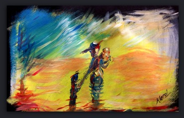 Karol Acrylic and Charcoal on Paper