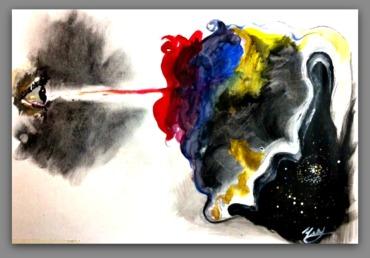 Acrylic on Paper by Ysabel Gregorio De Souza